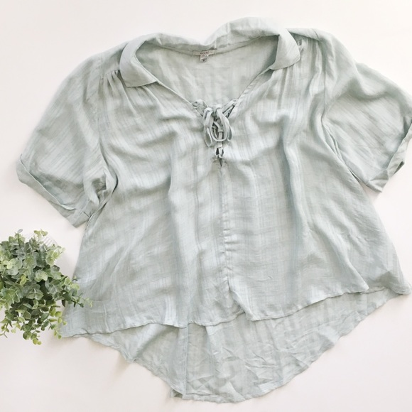 Urban Outfitters Ecote Lace Up Swing Blouse. M 5aa94f20739d487d6ad72007 ad8bb0778